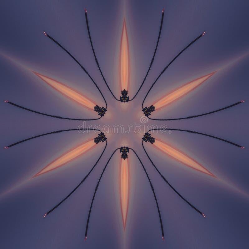 L'image abstraite avec les éléments graphiques colorés conçoivent illustration libre de droits