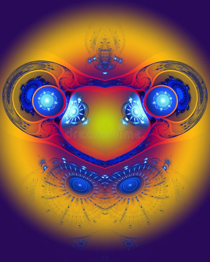 L'image abstraite de fractale de couleur. illustration libre de droits