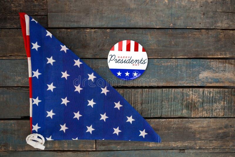 L'image composée d'un dieu bénissent l'Amérique Jour heureux de présidents typographie images libres de droits