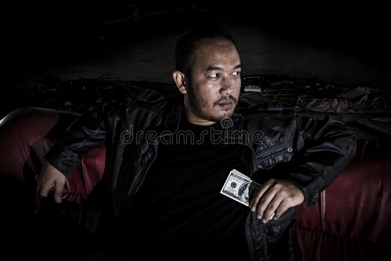 L'image d'un homme qui ressemble à une Mafia images stock