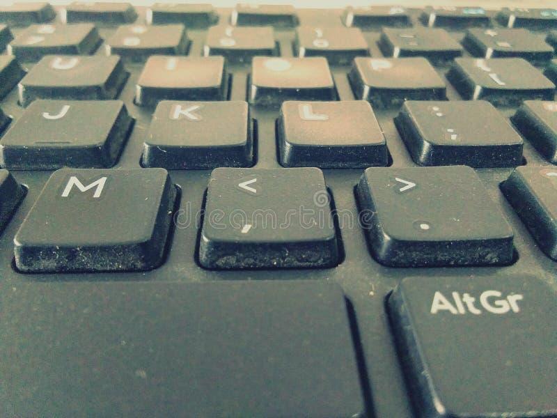L'image de clavier, mots, dactylographiant, écrivent, apprennent le travail, image stock