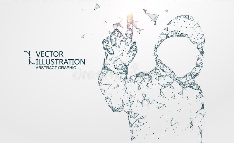 L'image de pirate informatique de composition de réseau, illustration illustration libre de droits
