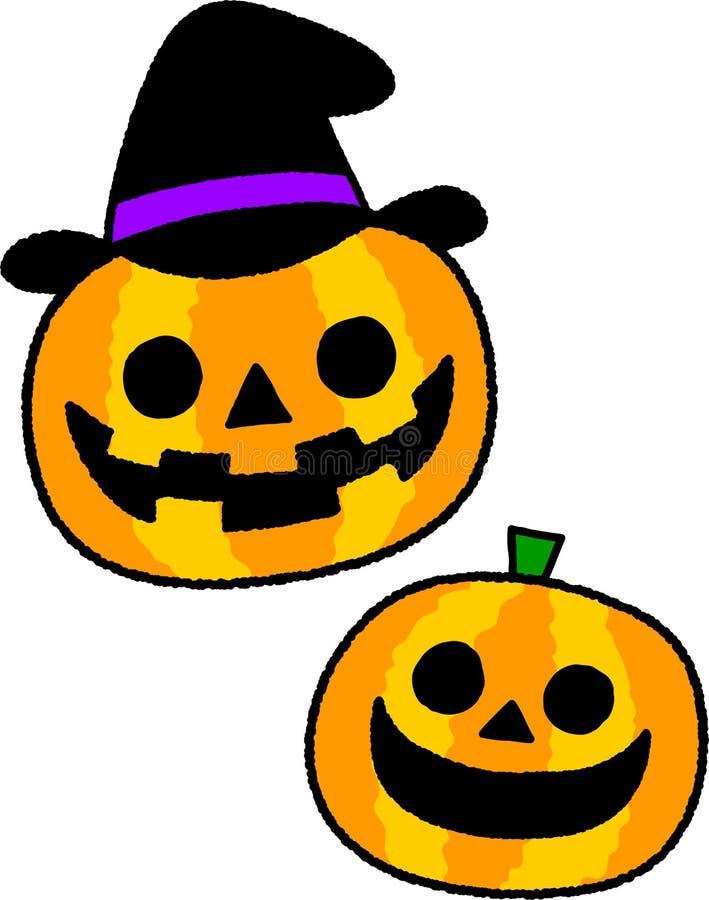 L'image du _2 de potiron de Halloween illustration libre de droits