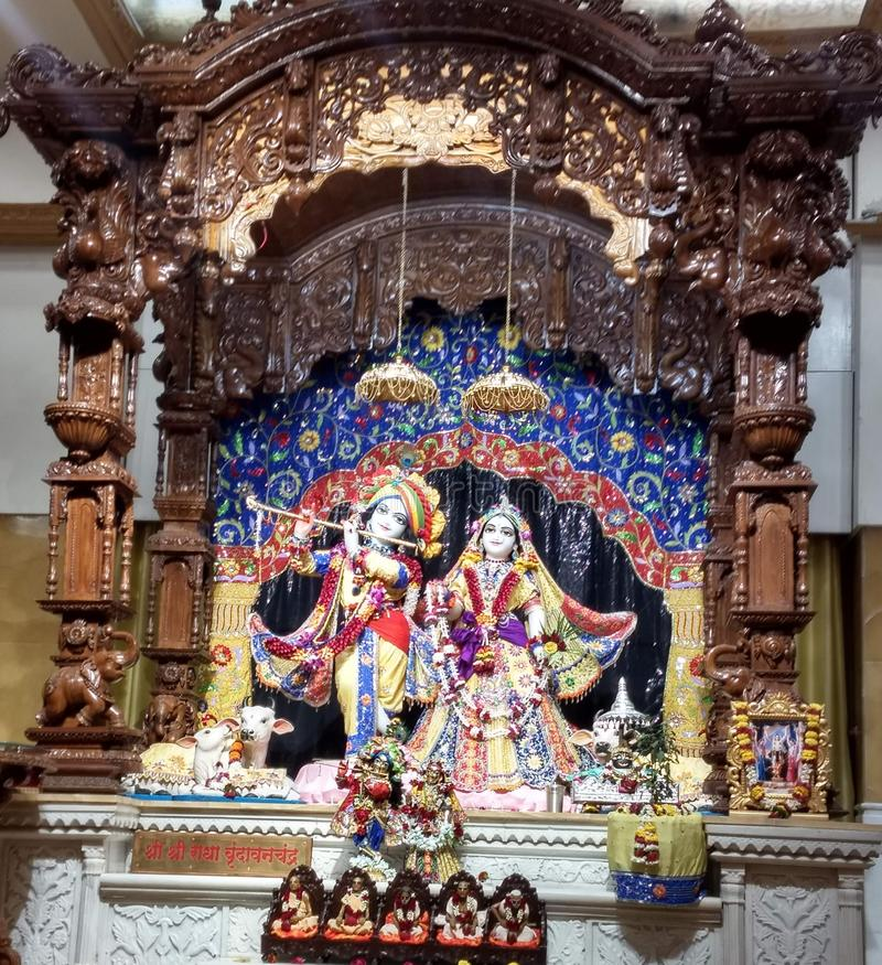 L'image est Radha Krishna photos stock
