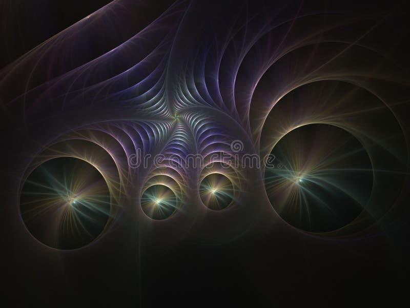 L'image générée par ordinateur de fractale abstraite, peut être employée pour le dos photos libres de droits
