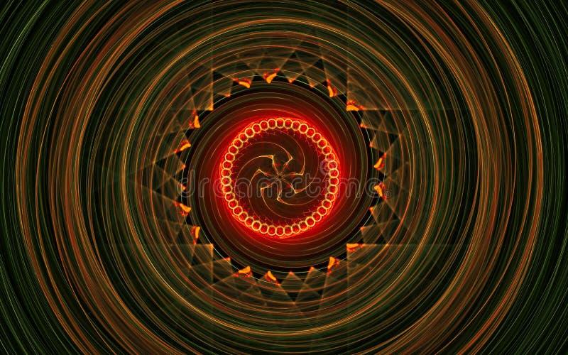 L'image num?rique s'est produite sur formes g?om?triques abstraites se composantes d'un ordinateur les belles, lignes de diff?ren illustration de vecteur