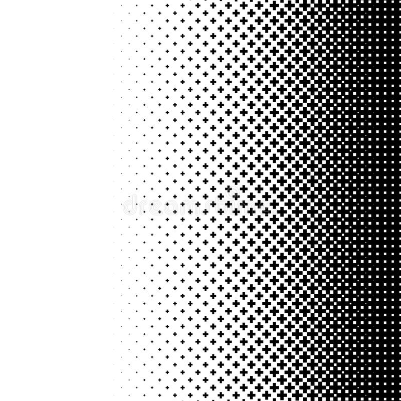 L'image tramée aiment l'élément des croix Image abstraite monochromatique illustration libre de droits