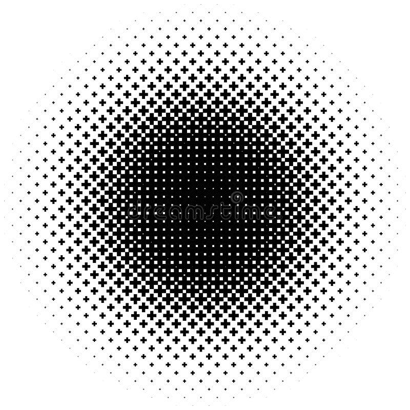 L'image tramée aiment l'élément des croix Image abstraite monochromatique illustration stock
