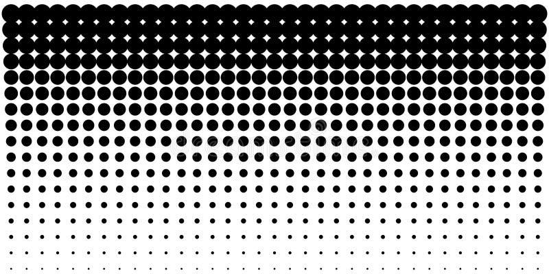L'image tramée de gradient pointille le fond, calibre horizontal utilisant le modèle de points tramé Illustration de vecteur photographie stock libre de droits