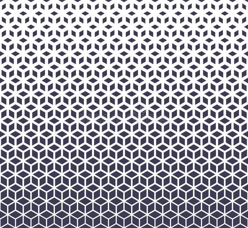 L'image tramée pourpre de grille de la géométrie sacrée abstraite cube le modèle illustration libre de droits