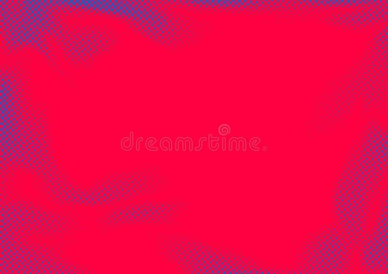 L'image tramée rose fraîche lumineuse d'abrégé sur couleur a pointillé le dos comique de page illustration stock