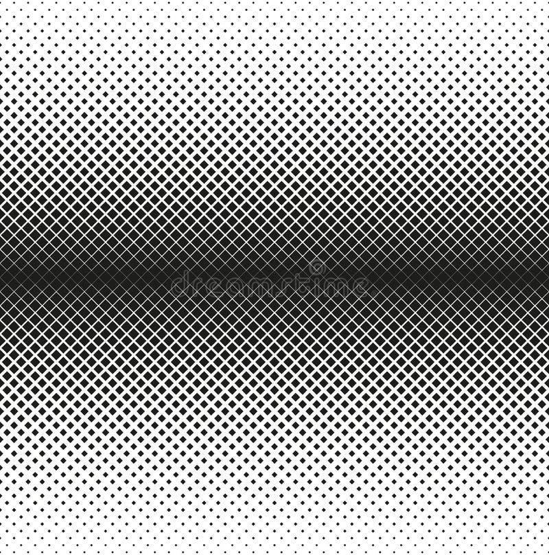 L'image tramée sans couture horizontale des places diminue au bord, sur le fond blanc Fond tramé Contrasty Vecteur illustration libre de droits