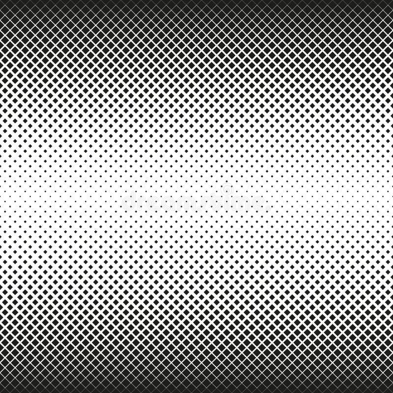 L'image tramée sans couture horizontale des places diminue au centre, sur le fond blanc Fond tramé Contrasty Vecteur illustration stock