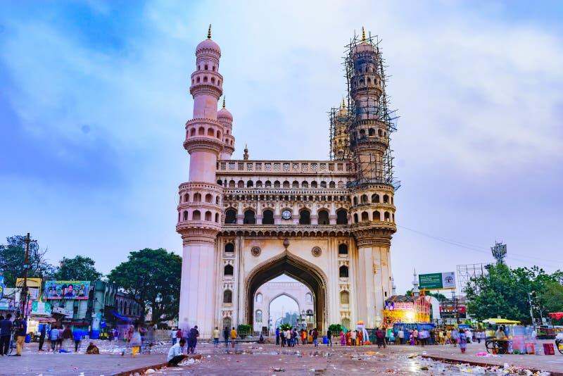 L'image vous voyant est le Charminar Son une architecture historique photos stock