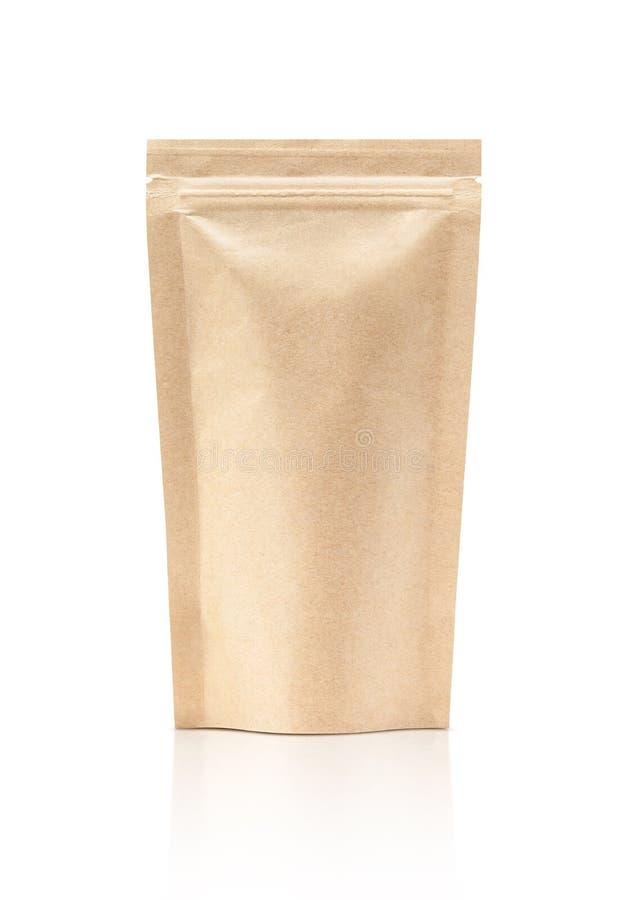 L'imballaggio in bianco ricicla il sacchetto della carta kraft fotografia stock libera da diritti