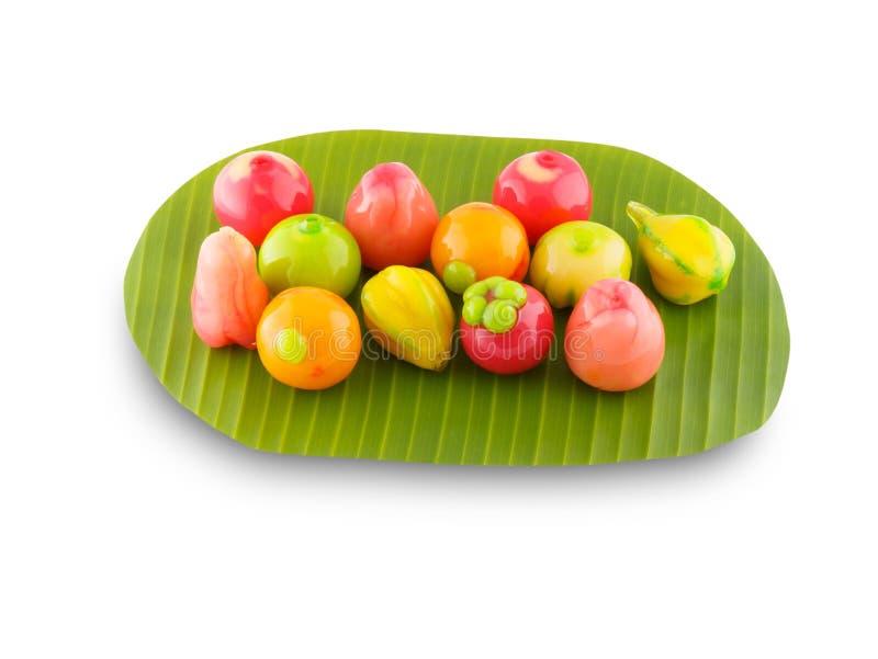 L'imitation supprimable porte des fruits dessert thaïlandais photo stock