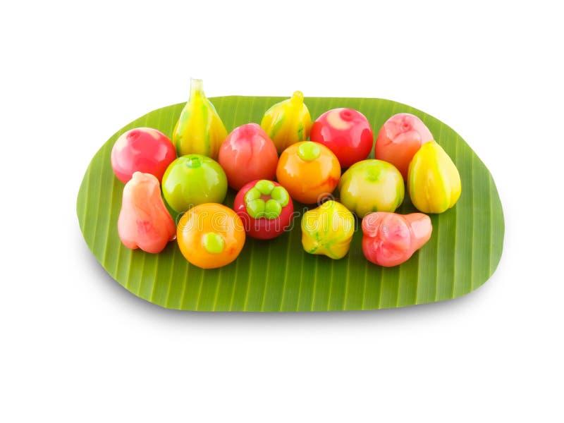 L'imitation supprimable porte des fruits dessert thaïlandais photos libres de droits