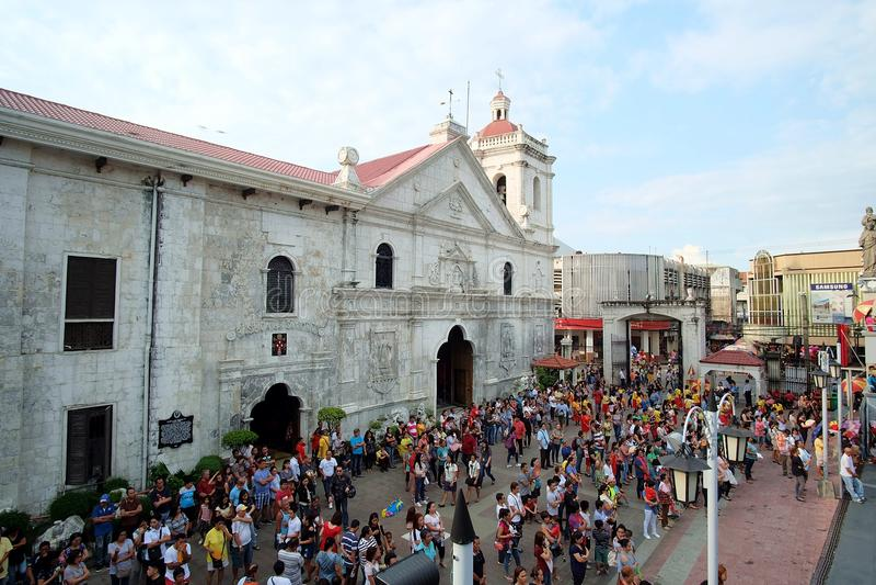 L'immacolata concezione di Mary Day al del Santo Nino della basilica a Cebu, Filippine immagine stock