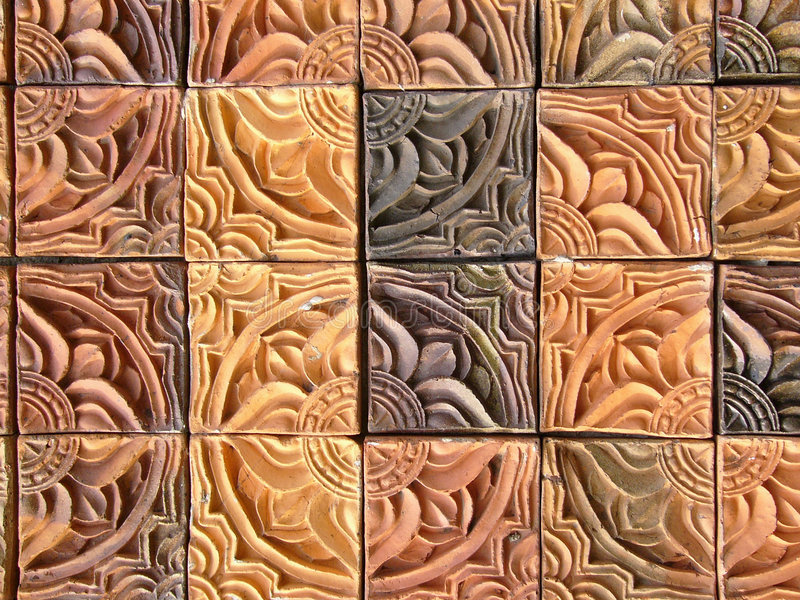 L'immaginazione copre di tegoli il primo piano fotografia stock