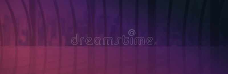 L'immagine composita di rosa e della porpora colora il fondo illustrazione di stock