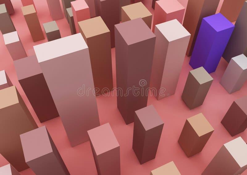 L'immagine 3d circa infographic ed affare e costruzione illustrazione vettoriale