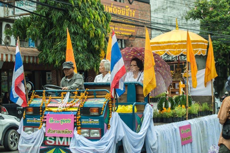 L'immagine di Buddha ha sfoggiato intorno alla città di Chiang Rai immagine stock libera da diritti