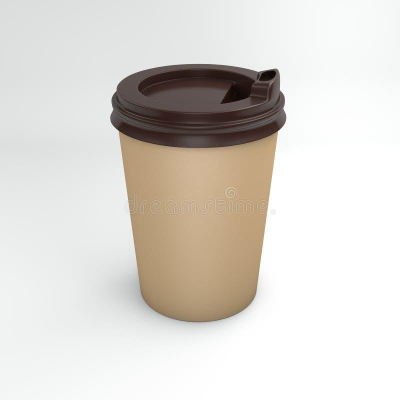 L'immagine di ricicla la tazza di caffè del cartone fotografia stock