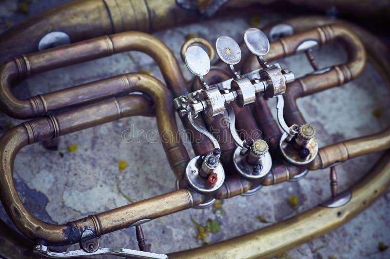 L'immagine di un frammento di uno strumento musicale d'annata fotografia stock libera da diritti