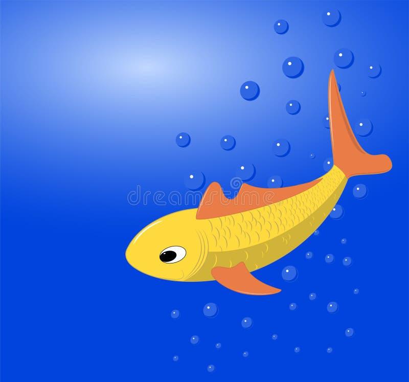 L'immagine di vettore di un goldfish fotografia stock