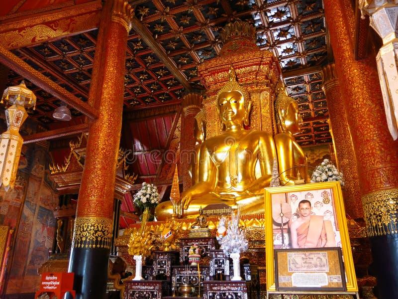 L'immagine dorata di Buddha di 4 direzioni in Tailandia immagine stock libera da diritti