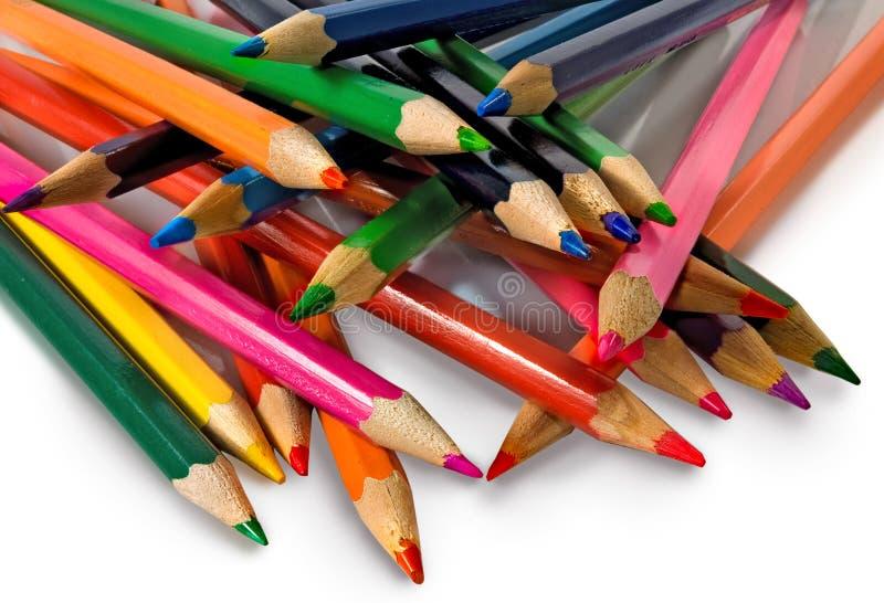 L'immagine isolata di colore disegna a matita il primo piano fotografia stock