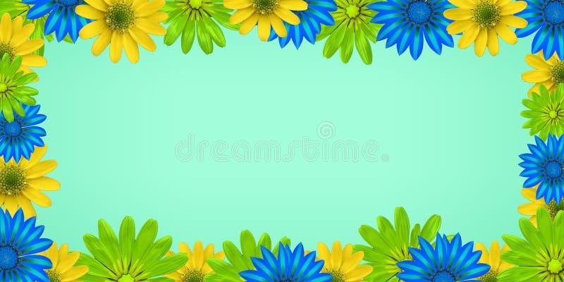 L'immagine nello stile dei fiori con un fondo blu-chiaro per la redazione ed usando della qualsiasi informazione fotografia stock