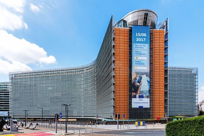 L'immeuble de bureaux de Berlaymont image libre de droits