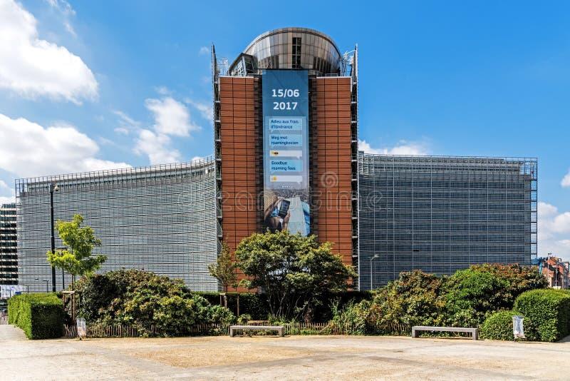 L'immeuble de bureaux de Berlaymont image stock