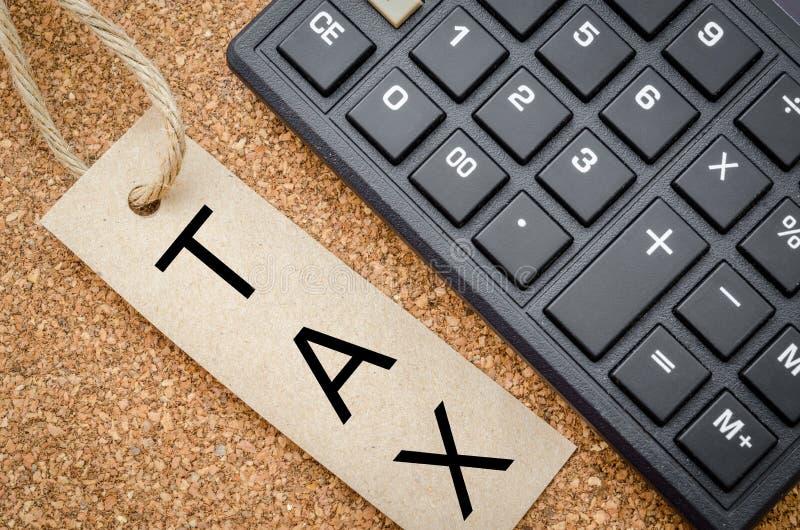 L'impôt de mot photo libre de droits