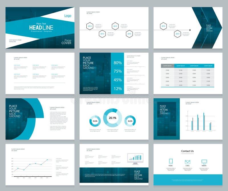 L'impaginazione del modello e di progettazione della presentazione di affari con la copertura progetta illustrazione vettoriale