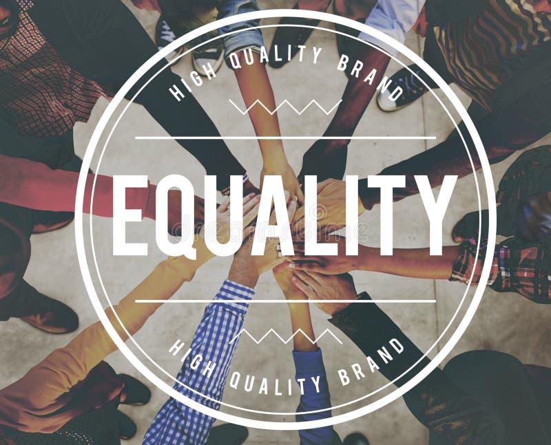 L'imparzialità dell'uniformità dell'uguaglianza radrizza la giustizia Concept immagine stock libera da diritti