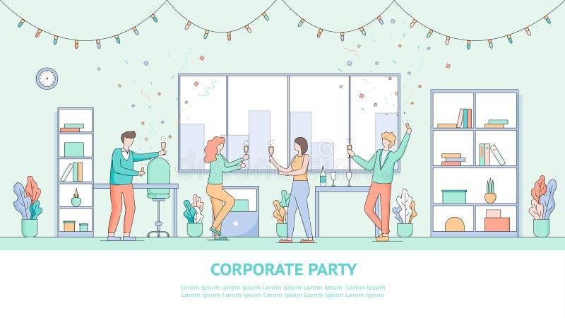 L'impiegato di Group la People Company celebra la festa illustrazione di stock