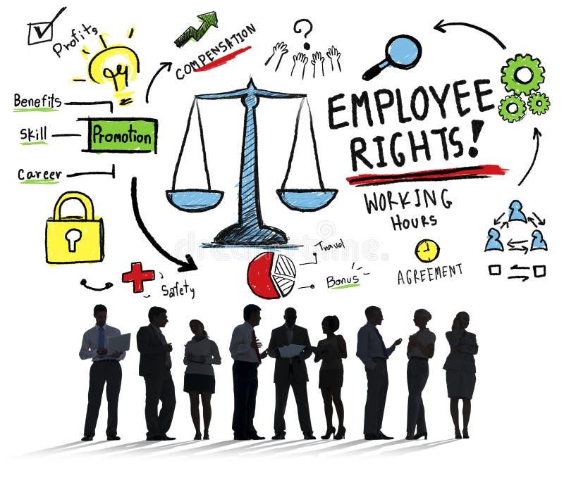 L'impiegato radrizza l'uguaglianza Job Business Concept di occupazione illustrazione vettoriale