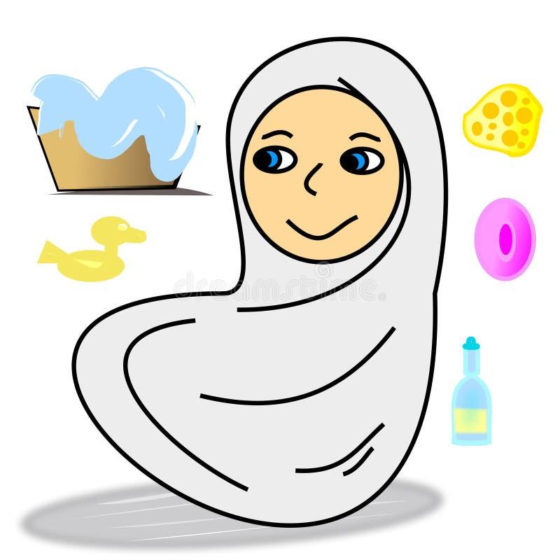 L'importanza di igiene con sapone ed acqua royalty illustrazione gratis