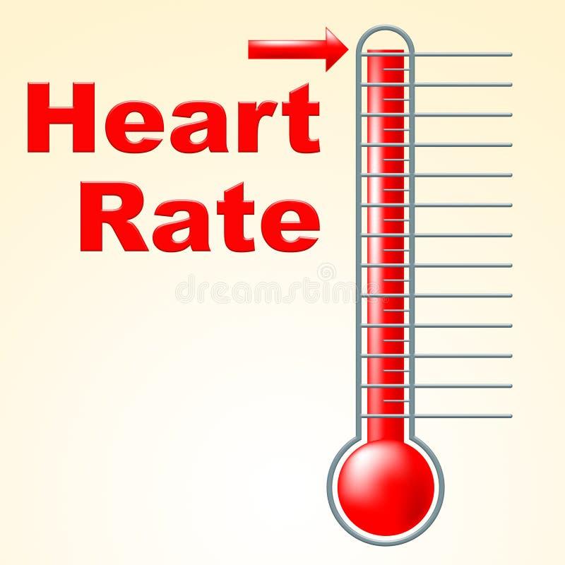 L'impulsion de coeur montre le degré sain et le battement de coeur illustration libre de droits