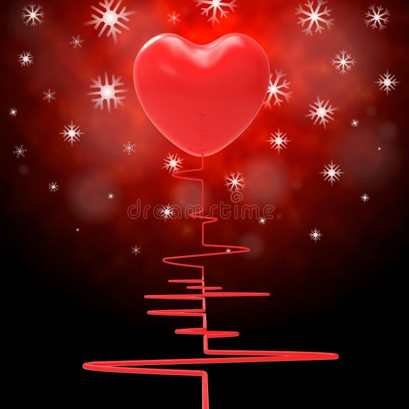 L'impulsion de coeur représente la Saint-Valentin et l'électro illustration de vecteur
