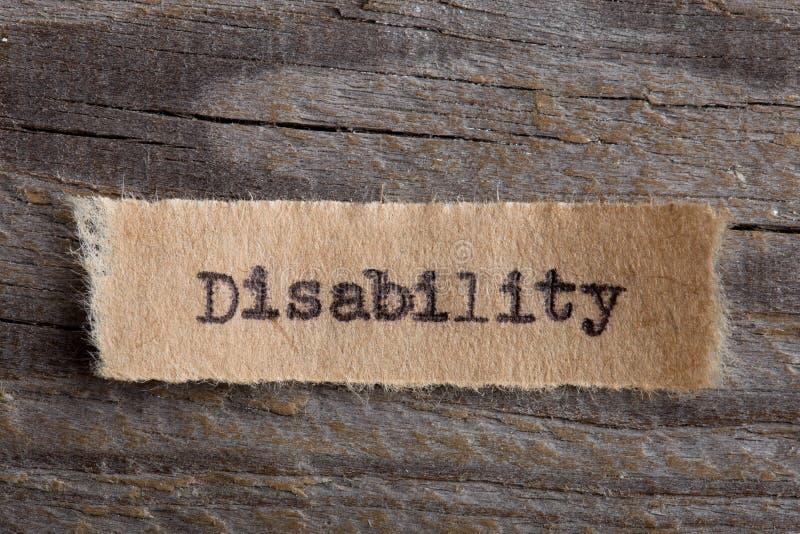 L'inabilità ha scritto la parola a macchina, concetto di motivazione immagini stock libere da diritti