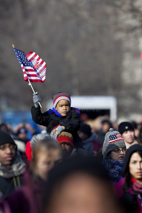 L'inauguration présidentielle de Barack Obama photo libre de droits
