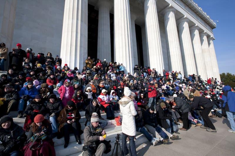 L'inaugurazione presidenziale di Barack Obama fotografie stock libere da diritti
