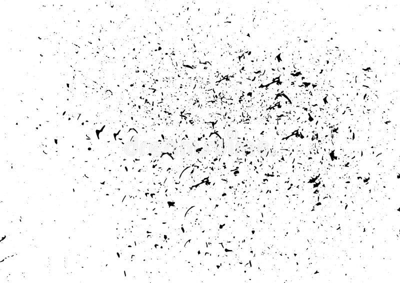 L'inchiostro ruvido macchia il modello bianco nero della disposizione del fondo della sporcizia illustrazione di stock