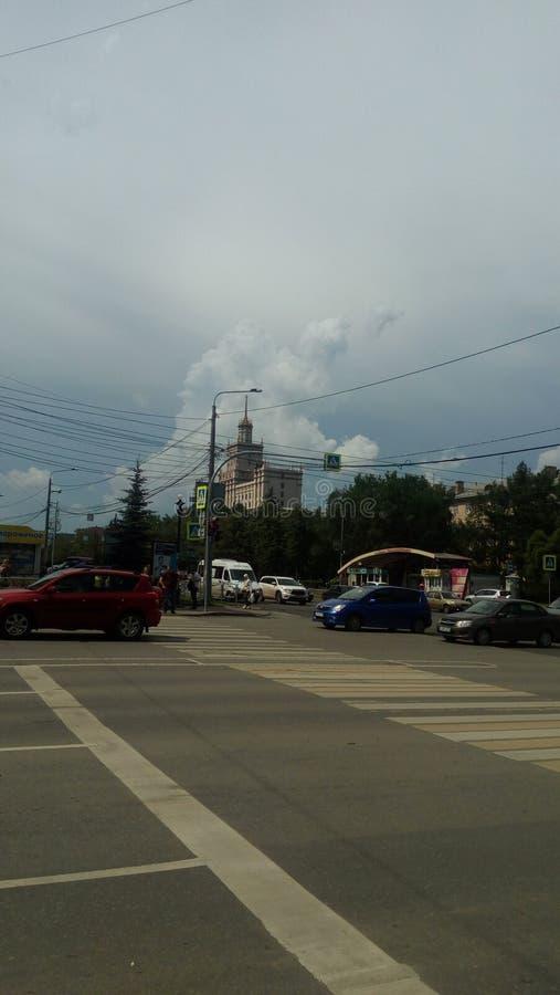 L'incrocio delle vie nella città di Ä?eljabinsk immagini stock libere da diritti