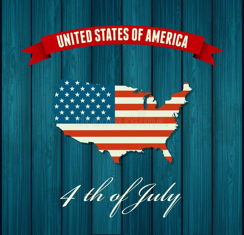 l'indépendance américaine de jour Conception plate illustration de vecteur