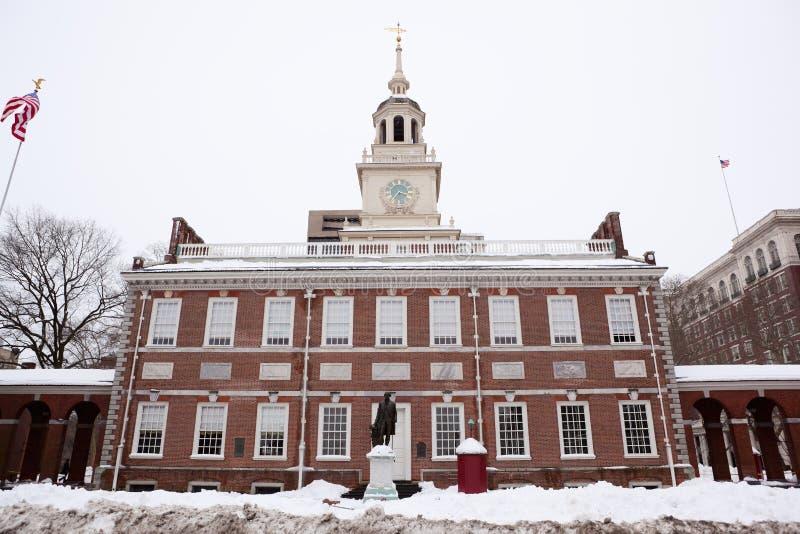 L'indépendance Hall, borne limite historique dans Philadel photo libre de droits