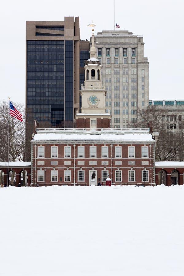L'indépendance Hall, borne limite historique dans Philadel image libre de droits